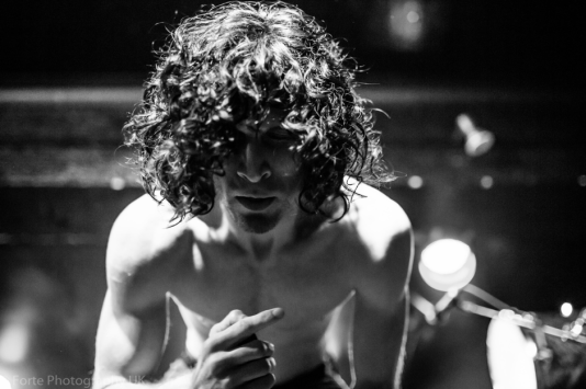 Jonny Hawkins of Nothing More photographed by Erin Moore at Manchester Academy