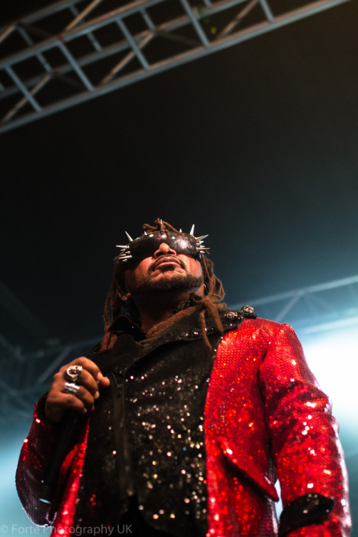 Benji Webbe of Skindred photographed by Erin Moore at Leeds University Stylus