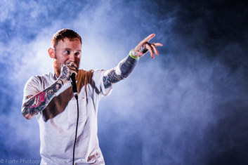Frank Carter of Frank Carter and the Rattlesnakes photographed by Erin Moore at the Warped Tour Uk